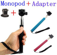 Wholesale Supernova Sale Colors Gopro Accessories Aluminium Handheld Monopod With Tripod Mount Adapter For Go pro HD Hero Camera Equipment