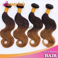 Wholesale Remy Ombre Virgin Blond Body Wave Hair Bulks Brazilian Virgin Natural Human Hair Extensions Mixed Length quot quot g pc