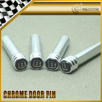 Wholesale 4pcs set BRABUS Chrome Electrocopper Door Pin Lock GLK SLK ML SL E G E A S M CLASS