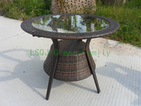 Wholesale rattan outdoor patio furniture rattan table chair