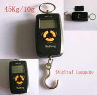 Digital scale 45KG/10G  6pcs lot 45Kg 10g Digital Lage Hanging Fishing Weight Scale