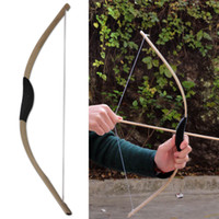 Wholesale Traditional Wooden Bow Children Kid Archery Hunting Toy Role Play Arrows amp Quiver amp Wood Wooden Bow Set Kit