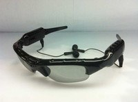 Wholesale Wholesales Mini DVR Sunglasses With Camera Mp3 Player With Earphone Hidden Camcorder Men