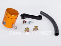 Wholesale Universal Motorcycle Front Brake Clutch Tank Cylinder Fluid Oil Reservoir Freeshipping gold