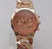 Wholesale 2015 new MICHAEL watch rose gold chain Stainless Steel men s woman Watch luxury calendar quartz sport watches