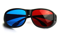 Wholesale Passive Active Red Blue D Dimensional Glasses for D DVD Movie Game Sunglasses r b movie game