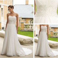 Trumpet/Mermaid Reference Images Chiffon WD3170 A-line Strapless Organza Grecian Wedding Dresses