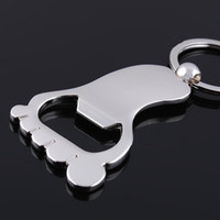 Wholesale Portable Personalized Foot Bottle Opener Keychain Key ring Alloy Valentines Gift