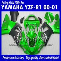 Wholesale 7 Gifts bodywork fairings for Yamaha YZF R1 YZFR1 YZF R1 green black full fairing kit MM8 fairings kits