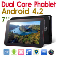 Wholesale Bluetooth inch G Android Dual core Phablet MTK8312 GHz Tablet PC GB MB GPS WiFi Dual Sim card Dual Standby