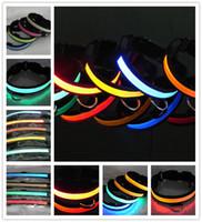 2 Models 8 colors Nylon LED Flashing Pet Collars Pet cat dog...