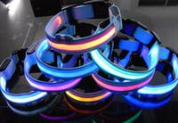 100pcs Fedex, 2 Models 8 colors Nylon LED Flashing Pet Collar...