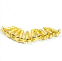 Wholesale 100PCS Guitar Pickguard Screws For Fender Tele Start Gold