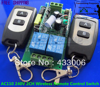 Wholesale AC110 V CH Wireless Remote Control Switch Transmitte Receiver Toggle Momentary Latched Module MHZ MHZ