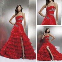 Trumpet/Mermaid Reference Images Chiffon WD01232 Grecian Style Red Wedding Dress