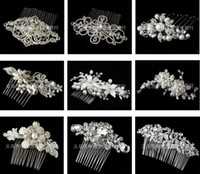 Wholesale Variety of styles Bride s Comb Hair Accessories Rhinestone Crystal Pearls Tiaras New Fashion Wedding Jewelry Prom Party Evening Pageant