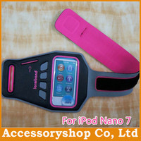 Wholesale For iPod Nano Sports Armband Cellphone Case With Key Bag Earphone Hole GYM Arm Band Case Newest Pouch Cover Opp Pack Free DHL