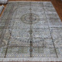 Wholesale 9 x12 Large persian silk rugs big size handmade carpet A9x12