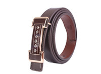 1PCS Rhinestone Buckle Coffee Genuine Leather Belt Ladies Wa...