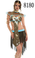 Wholesale Charming Elegant Gold Egyptian Queen One Size Sexy Costumes Lingerie Dress