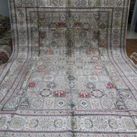 Wholesale 10 x14 Large Handmade Silk Carpets Four Season Design Persian Rugs A10x14