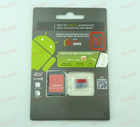 Wholesale Android robot GB Class Micro sd card TF Memory Card SDHC Cards Free Adapter and Red Retail Package sky360