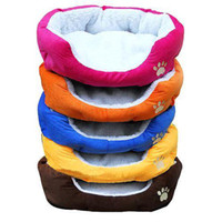 Wholesale S5Q New Pretty Soft Dog Cat Bed House Cozy Warm Fleece Pet Nest Removable Washable AAABAN