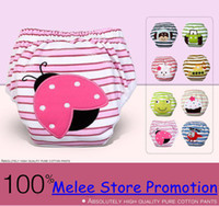 Wholesale DHL Fedex EMS New Cars Spring Layers Waterproof Cotton Baby Potty Training Pants Owl Lady Bug Bee Diapers Zebra Learning Pants U Pick Size