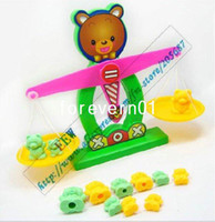 Wholesale educational toys little bear blance scale numbers add and subtract baby toys calculator funny baby product