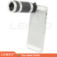 Wholesale 8 X Zoom Mobile Phone Lens Case Telescope Crystal Cover for iPone S S C Samsung Galaxy SIII S3 i9300 Note N9000
