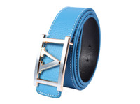 1PCS Fashion Gold Silver V- Buckle Turquoise Genuine Leather ...