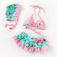 Wholesale new arrival girls swimming suit drilling Lycra fashion Siamese Children swimwear