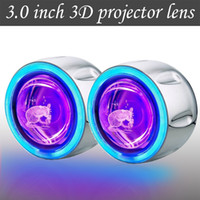 bi xenon projector lens - New style D bi xenon quot inch angel eye projector lens light hid xenon kit with CCFL Devil eyes