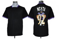 Wholesale Team ALL STAR Fashion Ravens Ngata Football Jerseys Discount Black Mens Sports Jerseys Shop Cheap American Football Uniform Shirt Kit