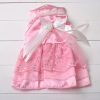 Wholesale Dog Apparel Pet Supplies Dog Cotton Princess Dress with Bowknot Cute Dog Clothes CA029