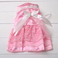 Wholesale Dog Apparel Pet Supplies Dog Cotton Princess Dress with Bowknot Cute Dog Clothes CA029