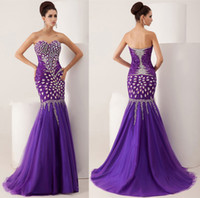 Reference Images Sweetheart Chiffon New Arrival Sweetheart Neckline Sleeveless Fully Beaded Mermaid Evening Dresses Floor Length Sexy Zipper Back Prom Gowns Sweep Train