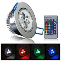 Wholesale Free Sample RGB LED Ceiling Light DownlightSpotlight Lamp Recessed Lighting Fixture TH0043