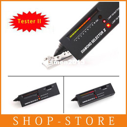 Wholesale Free Shiping NEWEST Metal alert Gems Diamond Gemstone Tester Selector II Tool LED Audio