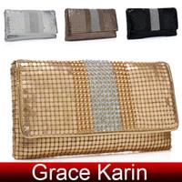 good evening - Good Price GK Women s Aluminum Pieces amp Rhinestone Clutch Evening Bag Shoulder Bag GZ643