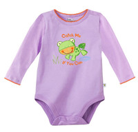 Girl Summer 100% Cotton Wholesale Baby Girls Clothes Baby Bodysuits Rompers Frog Newborn Coverall Infant Overalls Jumpsuits Free Shipping B29