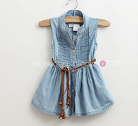 Baby girl kids Jeans dress Jeans jumpsuits one- piece jumpsui...