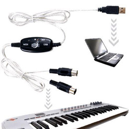 Wholesale S5Q USB Midi Cable to Keyboard Module Controller Interface Adapter For PC Laptop AAAAFC