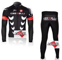 Wholesale Hot Sale Casstelli long sleeve cycling clothes bicycle bike riding long jerseys pants sets