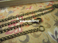 Clasps & Hooks Zhejiang China (Mainland) Crimp & End Beads 20pcs 30inches antique bronze metal charm necklace with brass Lobster Clasp and round loop width 2mm