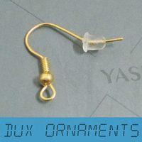 Wholesale K Gold Plated Surgical Steel Hypo Allergenic Earring Hooks Earring Findings Nickel Free
