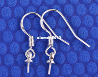 Wholesale Sterling Silver Earrings hook coil ear wires pendant accessories joint pairs