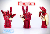 Wholesale Flawless Avengers Iron Man hand Flash GB USB Flash drive Memory Drive Stick Pen usb disk info think