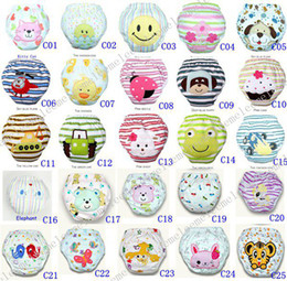 Wholesale DHL Fedex Cars Spring Layers Waterproof Cotton Baby Potty Training Pants Owl Lady Bug Bee Diapers Zebra Learning Pants U Pick Color amp Size