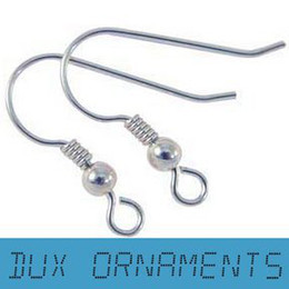 Wholesale Retail Sterling Silver Gold Dull  Bronze Earring Finding French Ear Wire Hook Earrings Fish Hooks with Coil and ball